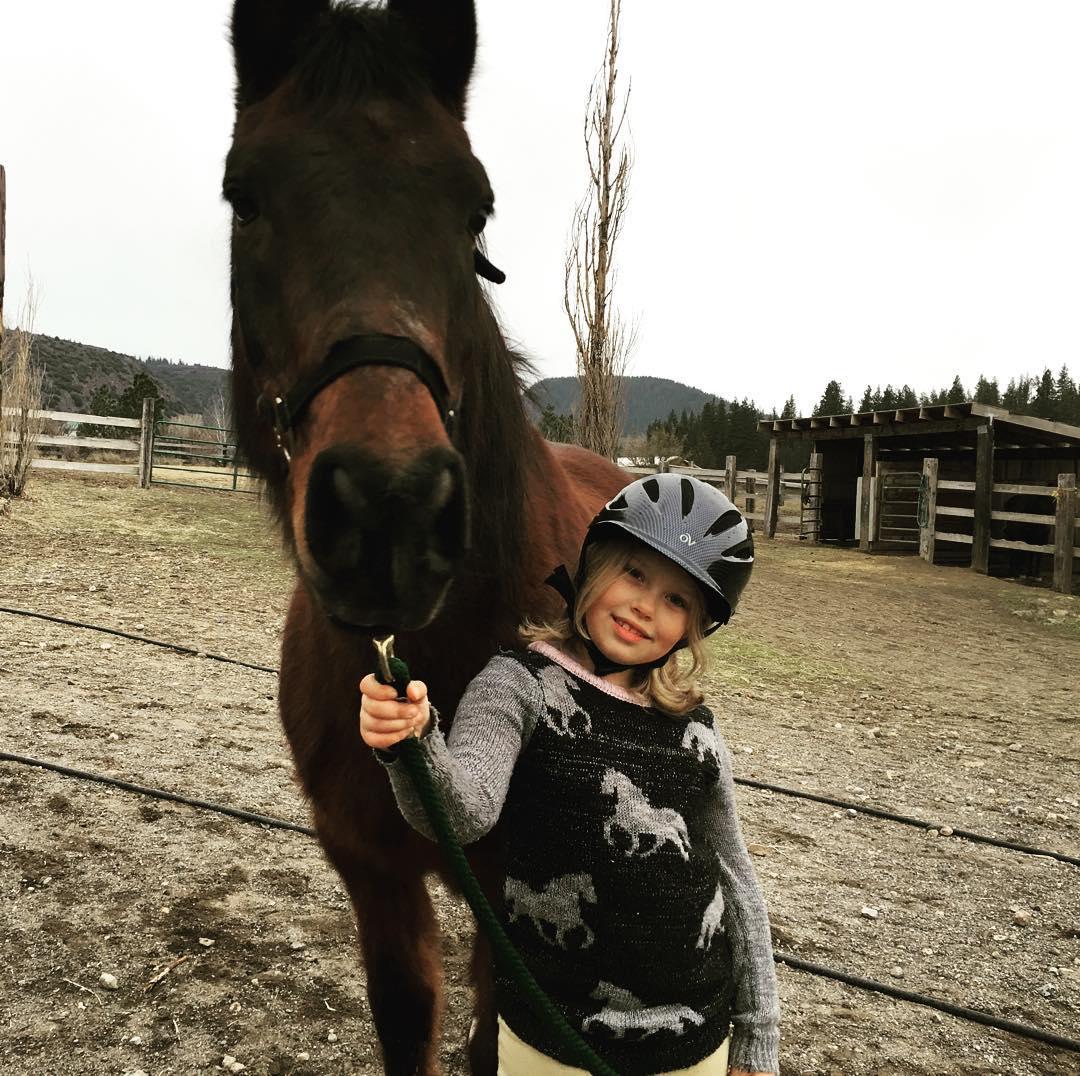 Claire riding